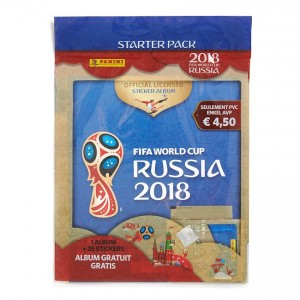 WC 2018 - RUSSIA - STARTER PACK DE 25 STICKERS + 1 ALBUM PANINI