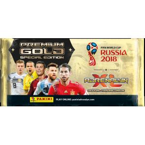 POCHETTE DE 10 TCG ADRENALYN PREMIUM GOLD- WC 2018 RUSSIA