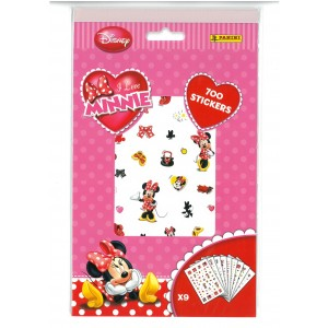 I LOVE MINNIE (700 STICKERS) - STICKER SHEET