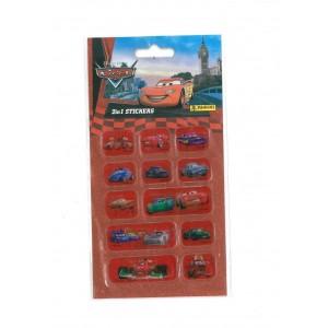 CARS (2 IN 1 STICKERS) - STICKER SHEET
