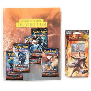 PROMO POKEMON FR Soleil-Lune 3 Ombres Ardentes- 1Col+1SD+5 Boosters