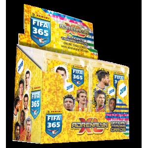 BOITE DE 50 POCHETTES TRADING CARDS - FIFA 365 2018 (ADRENALYN)