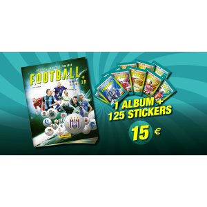 1 ALBUM + 125 STICKERS - PACK CADEAU PRO LEAGUE 2018