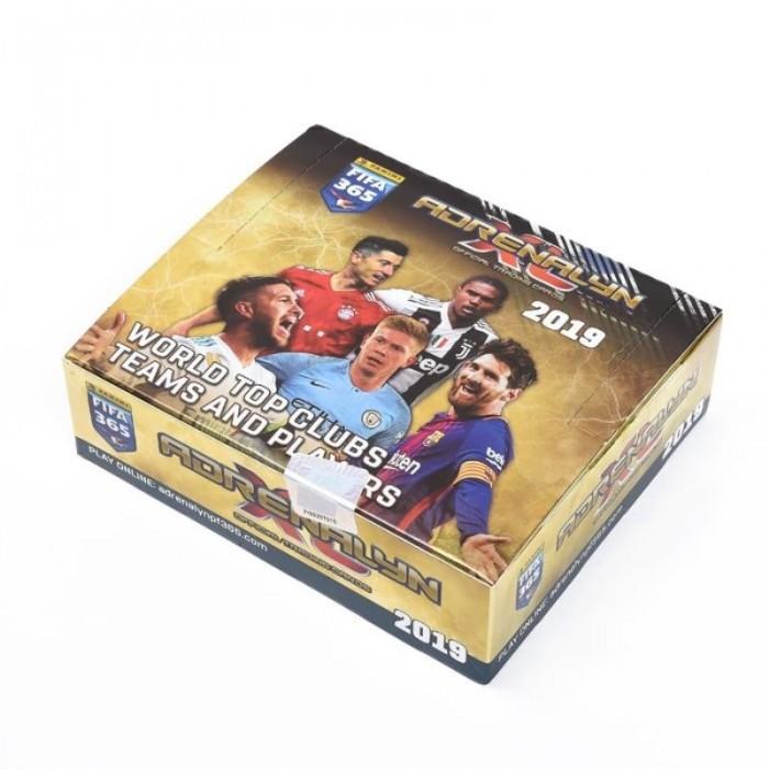 DOOS DE 144 TRADING CARDS - FIFA 365 2019 ADRENALYN XL