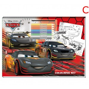 COLOURING SET - CARS DISNEY