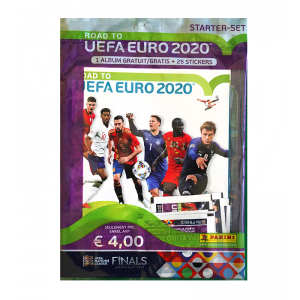 STARTER SET 1 ALBUM GRATIS + 25 STICKERS - ROAD TO UEFA EURO 2020