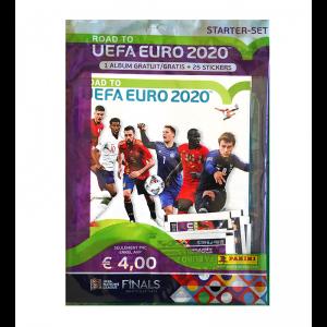 STARTER SET -1 ALB+25 STICKERS - ROAD TO UEFA EURO 2020