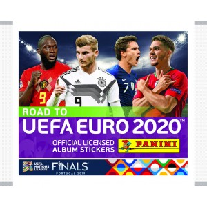 POCHETTE 5 STICKERS - ROAD TO UEFA EURO 2020 PANINI