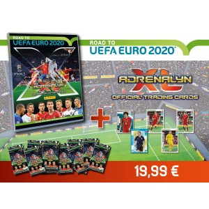 PACK DECOUVERTE TCG ADRENALYN (1 BINDER+72 TCG)- ROAD TO UEFA EURO 2020 PANINI