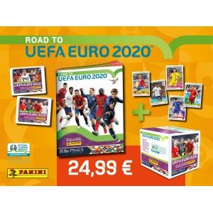 1 ALBUM+1 BTE STICKERS - PACK DE LANCEMENT ROAD TO UEFA EURO 2020 PANINI