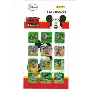 MICKEY MOUSE - FRIENDS (2in1 STICKERS) - STICKER SHEET