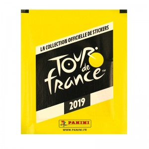 POCHETTE -5 STICKERS+1 CARTE -TOUR DE FRANCE 2019 PANINI