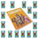 PACK DE LANCEMENT-1 COLL+90 CARTES- FORTNITE SERIES 1 PANINI