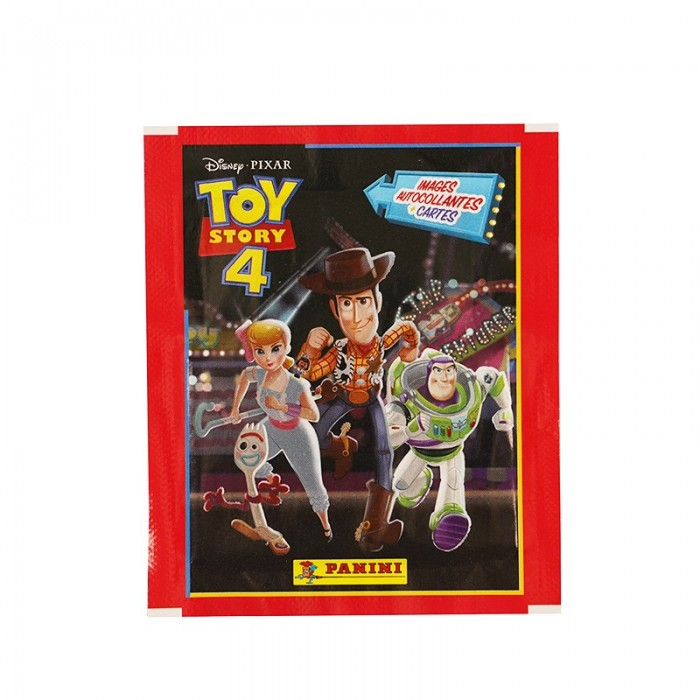 POCHETTE - 4 STICKERS+1 CARTE - TOY STORY 4 PANINI