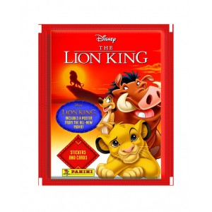 POCHETTE -4 STICKERS+1 CARTE- LION KING CLASSIC 2019 PANINI