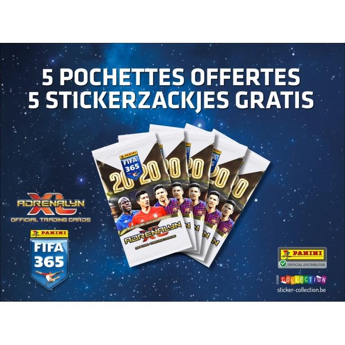 CADEAU WEB - 5 POCHETTES DE 6 TRADING CARDS FIFA 365 2020