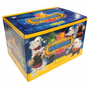 DOOS MET 16 BEELDJES 3D MONSTERS MIX PANINI