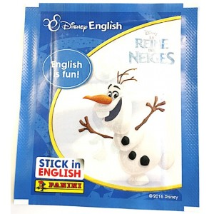LA REINE DES NEIGES (DISNEY ENGLISH) - POCHETTE DE 5 STICKERS