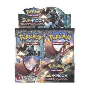 Boite 36 Pochettes Pokemon Cards Soleil-Lune 3- Fr. OMBRES ARDENTES